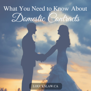 domestic contracts, marriage contract, separation agreement,